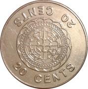 20 Cents - Elizabeth II (3rd portrait) – reverse
