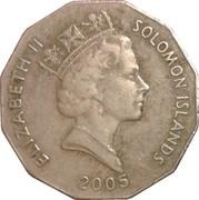 50 Cents - Elizabeth II (3rd portrait; non-magnetic) – obverse