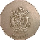 50 Cents - Elizabeth II (3rd portrait; non-magnetic) – reverse