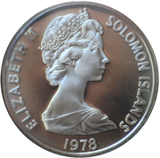 5 Dollars - Elizabeth II (Fossilized Clam Shell) -  obverse