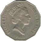 50 Cents - Elizabeth II (Independence) – obverse