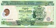 2 Dollars (CBSI) – obverse