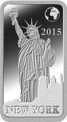 ½ Dollar - Elizabeth II (New York) – reverse
