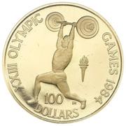 100 Dollars - Elizabeth II (Weightlifter)