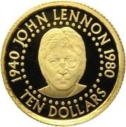10 Dollars - Elizabeth II (John Lennon) – reverse