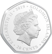 20 Cents - Elizabeth II (Unity in the Sky) – obverse