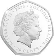 20 Cents - Elizabeth II (Droop Snoot) – obverse
