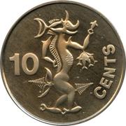 10 Cents - Elizabeth II (2nd portrait) – reverse