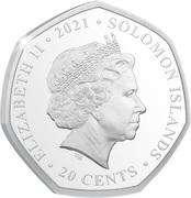 20 Cents - Elizabeth II (Tyrannosaurus Rex) – obverse