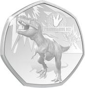 20 Cents - Elizabeth II (Tyrannosaurus Rex) – reverse