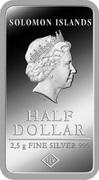 ½ Dollar - Elizabeth II (Barcelona) – obverse