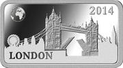 ½ Dollar - Elizabeth II (London) – reverse