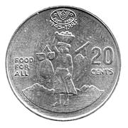 20 Cents - Elizabeth II (FAO) – reverse