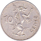 10 Cents - Elizabeth II (3rd portrait; non-magnetic) – reverse