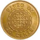 20 Cents - Elizabeth II (2nd portrait) – reverse