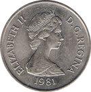 ½ Crown - Elizabeth II (2nd portrait) – obverse