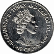 1 Crown - Elizabeth II (Royal Wedding) – obverse