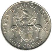 1 Crown - Elizabeth II (2nd portrait) – reverse