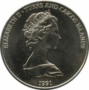 5 Crowns - Elizabeth II (Discovery of the New World) – obverse