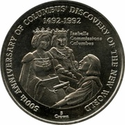 5 Crowns - Elizabeth II (Discovery of the New World) – reverse