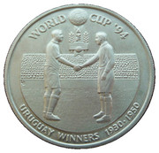 5 Crowns - Elizabeth II (World Cup winners - Uruguay) – reverse