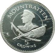 5 Crowns - Elizabeth II (Lord Mountbatten) – reverse