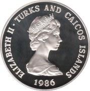 1 Crown - Elizabeth II (Royal Wedding; Silver Proof Issue) – obverse