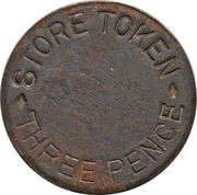 3 Pence (West Caicos Sisal Company) – obverse
