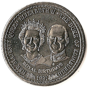 1 Crown - Elizabeth II (Royal Birthdays) – reverse