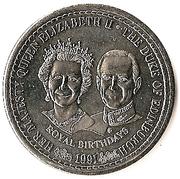 1 Crown - Elizabeth II (Royal Birthdays) – reverse