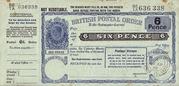 6 Pence - Postal Order – obverse
