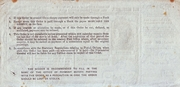 6 Pence - Postal Order – reverse