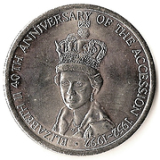 5 Crowns - Elizabeth II (Jubilee) – reverse