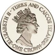 1 Crown - Elizabeth II (Royal Wedding - Princess Diana; Silver Proof Issue) – obverse