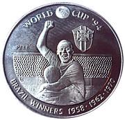 5 Crowns - Elizabeth II (World Cup winners - Brazil) – reverse