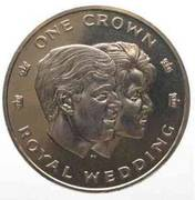 1 Crown - Elizabeth II (Royal Wedding) – reverse