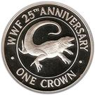 1 Crown - Elizabeth II (WWF; Silver Proof Issue) – reverse