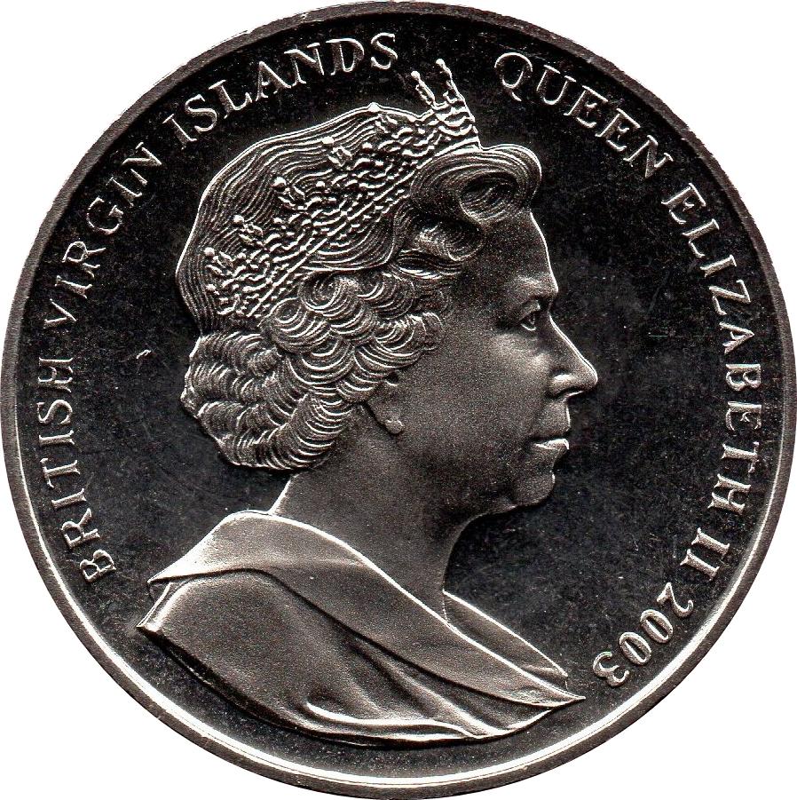 1 Dollar Elizabeth Ii John F Kennedy British Virgin Islands