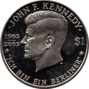 1 Dollar - Elizabeth II (John F. Kennedy) – reverse