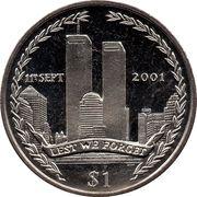 1 Dollar - Elizabeth II (Twin Towers) – reverse