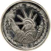 1 Dollar - Elizabeth II (Statue of Liberty) – reverse
