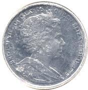 1 Dollar - Elizabeth II (4th Portrait; 2 dolphins) – obverse