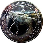 1 Dollar - Elizabeth II (Golden Jubilee, Queen on Horse) – reverse