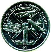 1 Dollar - Elizabeth II (Centenary of Powered Flight) – reverse