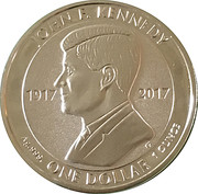 1 Dollar - Elizabeth II (100th Anniversary of the Birth of John F. Kennedy) – reverse