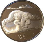 25 Dollars - Elizabeth II (Polar Bear) – reverse