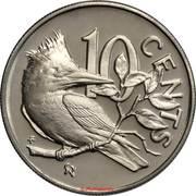 10 Cents - Elizabeth II (2nd portrait; Set Issue) -  reverse