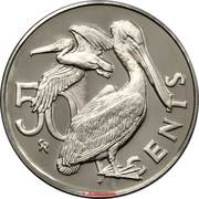 50 Cents -  Elizabeth II (2nd portrait; Set Issue) – reverse