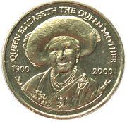 1 Dollar - Elizabeth II (Queen Mother's 100th Birthday) – reverse