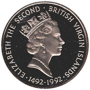 1 Dollar - Elizabeth II (Columbus' First Voyage) – obverse